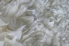 Our 8ft by 8ft High Quality Ivory Flower Wall,